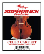 Superslick Cello Care Kit w/ Endpin Holder