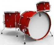 "British Drum Co ""Legend Club 24"" 3-piece, Buckingham Scarlett"