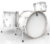 "British Drum Co ""Legend Club 22"" 3-piece, Piccadilly White"
