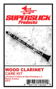 Superslick Clarinet Care Kit - w/ Silk Swab and Polishing Cloth
